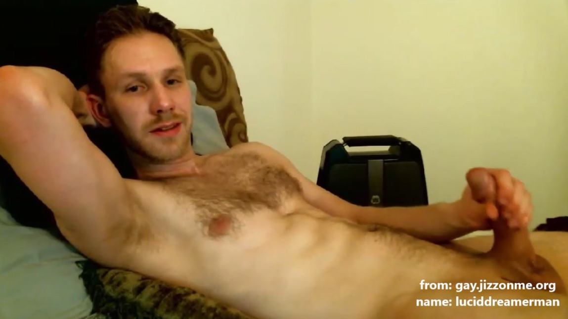 sweet cock luciddreamerman jerks his dick on webcam